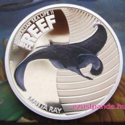 Korallzátony - Ördögrája 2012 1/2 uncia színes ezüst pénzérme