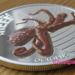 Korallzátony - Polip 2012 1/2 uncia színes ezüst pénzérme