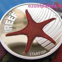 Korallzátony - Tengeri csillag 2011 1/2 uncia színes ezüst pénzérme