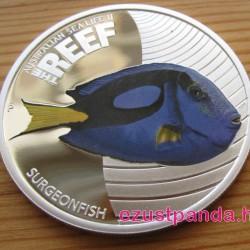 Korallzátony - Doktorhal 2012 1/2 uncia színes ezüst pénzérme