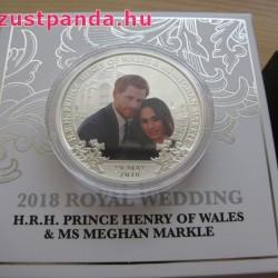 Királyi esküvő 2018 1 uncia proof ezüst pénzérme