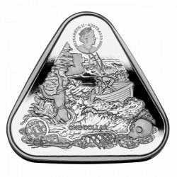 """Hajótörés """"Zuytdorp 1712"""" 2020 1 uncia 1AUD ezüst pénzérme, háromszögletű"""