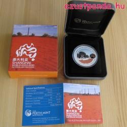 Shanghai ausztrál pavilon 1 uncia ausztrál ezüst pénzérme