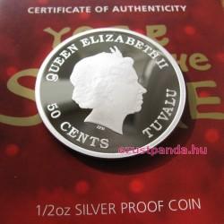 Bébi Kígyó 2013 1/2 uncia színes ezüst pénzérme