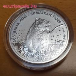 Szumátrai tigris 2020 1 uncia ausztrál ezüst pénzérme