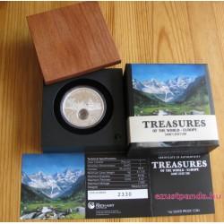 A világ kincsei teljes szett - 3x1 uncia proof ezüst pénzérme drágakövekkel