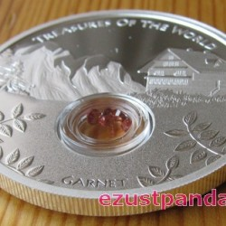 A világ kincsei - Karbunkulus 2013 1 uncia proof ezüst pénzérme drágakövekkel