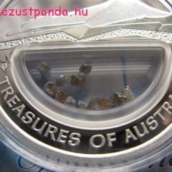 Ausztrália kincsei - Gyémántok 2009 1 uncia proof ezüst pénzérme gyémántokkal