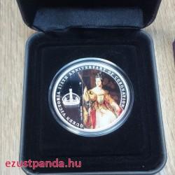 Viktória királynő koronázásának 175. évfordulója 2013 1 uncia proof ezüst pénzérme - EGYETLEN PÉLDÁNY!