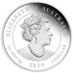 Viktória királynő 200. évforduló 2019 1 uncia proof ezüst pénzérme