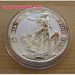 Britannia 2017 brit 1 uncia 2 GBP ezüst pénzérme