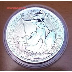 Britannia 2020 brit 1 uncia 2 GBP ezüst pénzérme