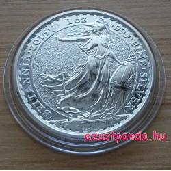 Britannia 2016 brit 1 uncia 2 GBP ezüst pénzérme