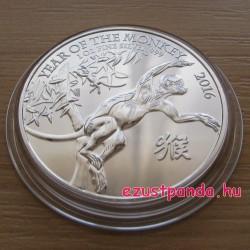 Majom éve 2016 brit 1 uncia ezüst pénzérme
