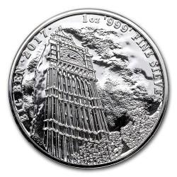 Brit látványosságok: Big Ben 2017 1 uncia 2 GBP ezüst pénzérme