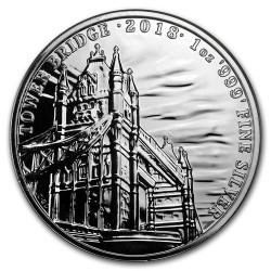 Brit látványosságok: Tower Bridge 2018 1 uncia 2 GBP ezüst pénzérme
