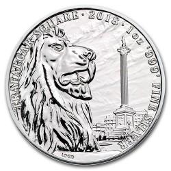 Brit látványosságok: Trafalgar Square 2018 1 uncia 2 GBP ezüst pénzérme