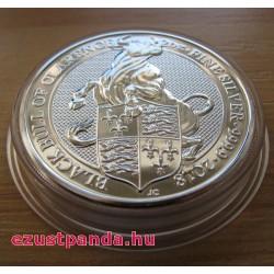 A királynő címerállatai - Clarence fekete bikája 2018 2 uncia 5 GBP ezüst pénzérme