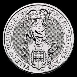 A királynő címerállatai - a Beaufort Antilop 2019 2 uncia 5 GBP ezüst pénzérme
