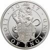 A királynő címerállatai - Oroszlán 2016 uncia 2 GBP proof ezüst pénzérme
