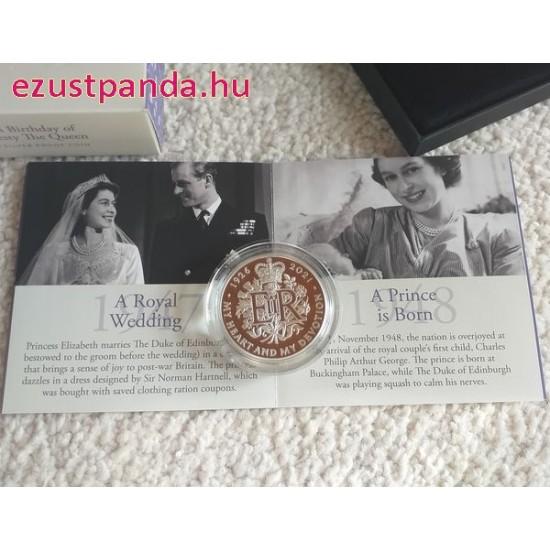 II. Erzsébet királynő 95 éves 2021 2 GBP proof ezüst pénzérme