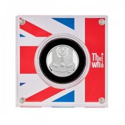 The Who együttes 2021 1 font proof ezüst pénzérme