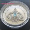 Akvamarin Tiara - a Királynő fejdísze 2020 1 uncia kanadai proof ezüst pénzérme Swarovski kristályokkal