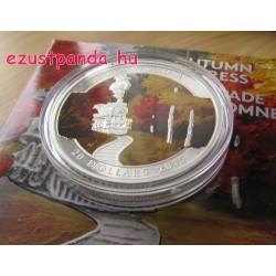 Őszi Expressz 2015 1 uncia kanadai proof ezüst pénzérme