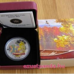 Őszi tó 2013 1 uncia kanadai proof ezüst pénzérme