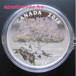 Almafa virágzás 2018 proof ezüst pénzérme