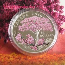 Cseresznyevirág 2016 proof ezüst pénzérme