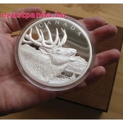 Bőgő Szarvas / Wapiti-Elk 2017 0,5 kg proof ezüst pénzérme