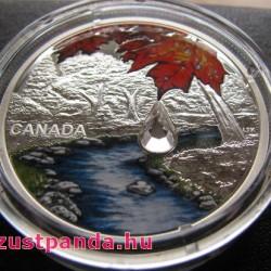 Kristály esőcsepp 2017 1 uncia proof ezüst pénzérme Swarovski kristályokkal
