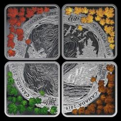 A négy elem 2019 46 gramm 12CAD kanadai proof ezüst érmeszett