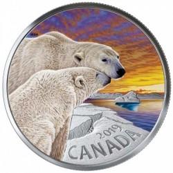 Kanada állatai - Jegesmedve 2019 1 uncia proof ezüst pénzérme
