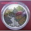 A varázslatos kert kapuja 2 uncia kanadai proof ezüst pénzérme, bronz filigránnal