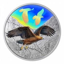 Szirti sas 2019 2 uncia kanadai proof ezüst pénzérme hologrammal