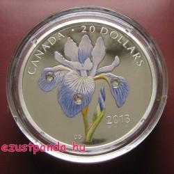 Írisz 2013 1 uncia proof ezüst pénzérme Swarovski kristályokkal