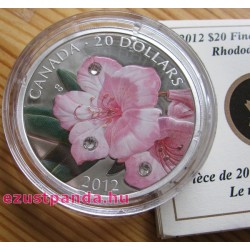 Rhododendron 2012 1 uncia proof ezüst pénzérme Swarovski kristályokkal