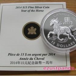 Lunar Ló éve 2014 1 uncia proof ezüst pénzérme