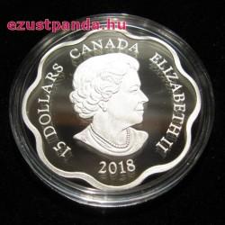 Lunar Lotus Kutya 2018 1 uncia proof ezüst pénzérme