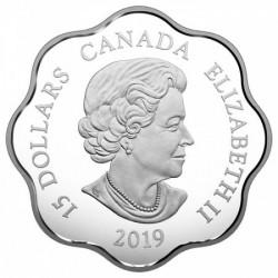 Lunar Lotus Disznó 2019 1 uncia proof ezüst pénzérme