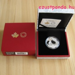 Lunar Lotus Kakas 2017 1 uncia proof ezüst pénzérme