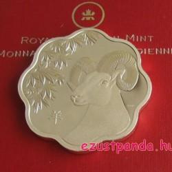Lunar Lotus Birka 2015 1 uncia proof ezüst pénzérme