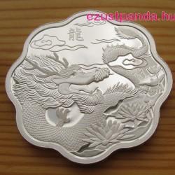Lunar Lotus Sárkány 2012 1 uncia proof ezüst pénzérme