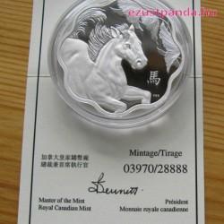 Lunar Lotus Ló 2014 1 uncia proof ezüst pénzérme