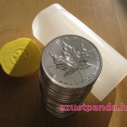 25x Maple Leaf (Juharlevél) 2020 1 uncia ezüst pénzérme (teljes tubus) - KÉSZLETEN!