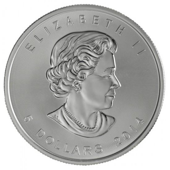 25x Maple Leaf (Juharlevél) 2019 1 uncia ezüst pénzérme (teljes tubus)