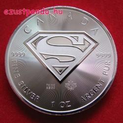 Superman 2016 1 uncia 5 CAD ezüst pénzérme