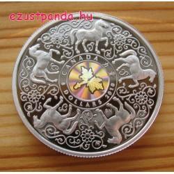 Erő - Maple of Strength 2010 1 uncia proof hologramos ezüst pénzérme